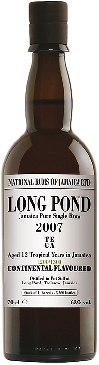 Bouteille de rum Long Pond 2007 Teca