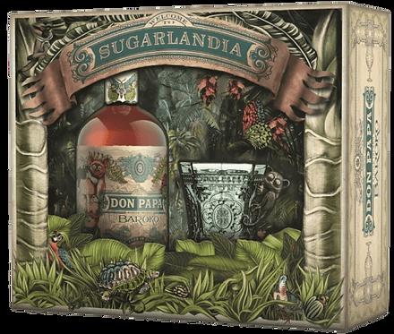 Coffret Sugarland de rhum Don Papa Baroko avec verre