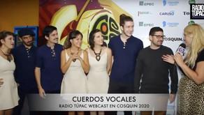Entrevista a Cuerdos Vocales en Radio Túpac (Cosquin 2020)