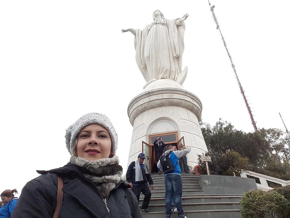 Estátua da Virgem Imaculada Conceição - Cerro San Cristobal - Santiago - Chile