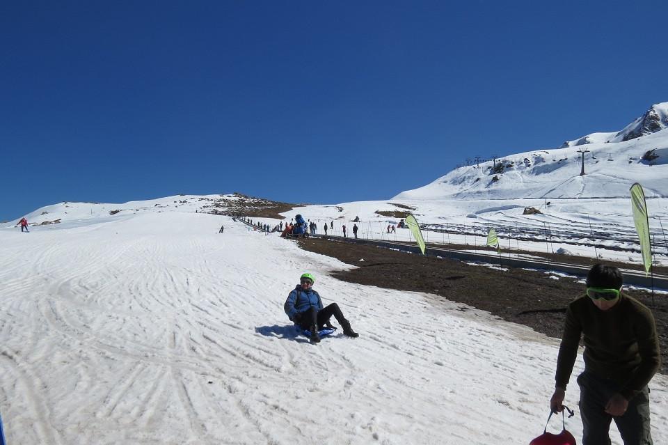 Descida de esquibunda - Farellones - Chile
