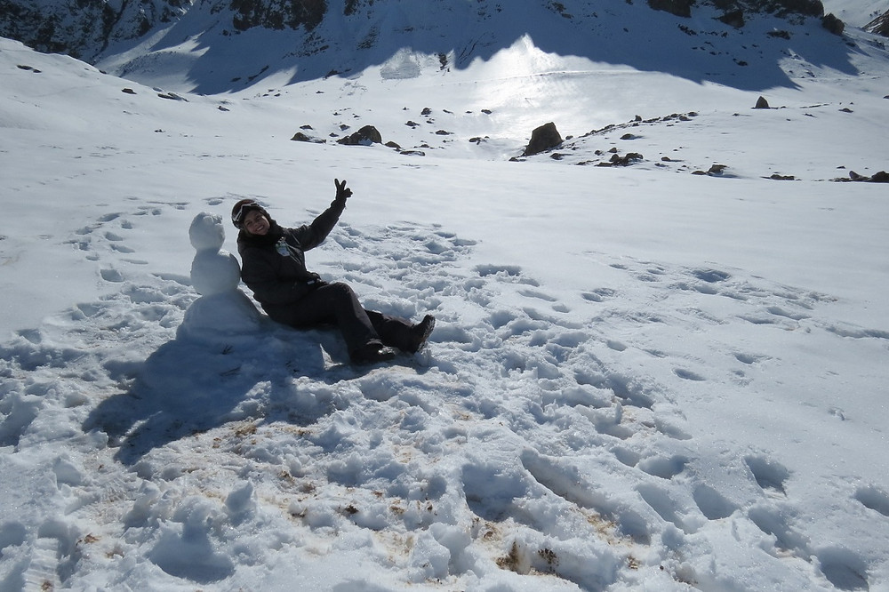 Boneco de neve - Farellones - Chile
