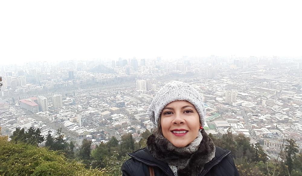 Vista do Cerro San Cristobal - Santiago - Chile