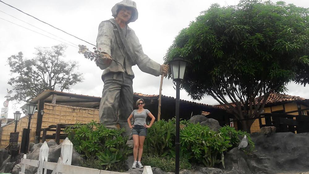 Estátua do Juquinha  Serra do Cipó MG