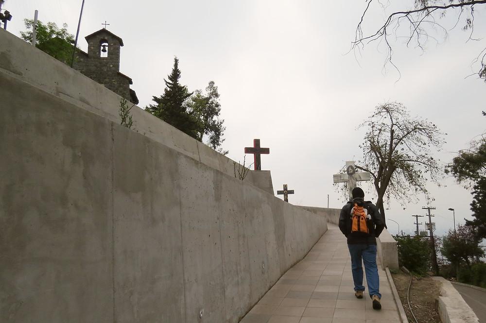 Caminhos das Sete Cruzes - Cerro San Cristobal - Santiago - Chile