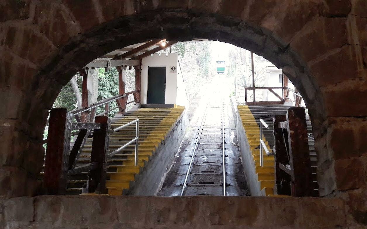 Entrada do funicular - Cerro San Cristobal - Santiago - Chile