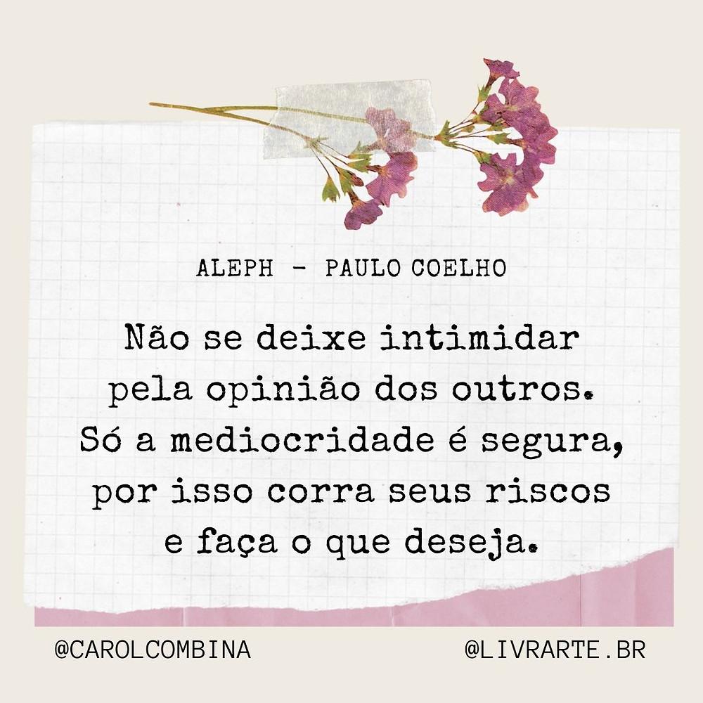 trecho do livro Aleph de Paulo Coelho