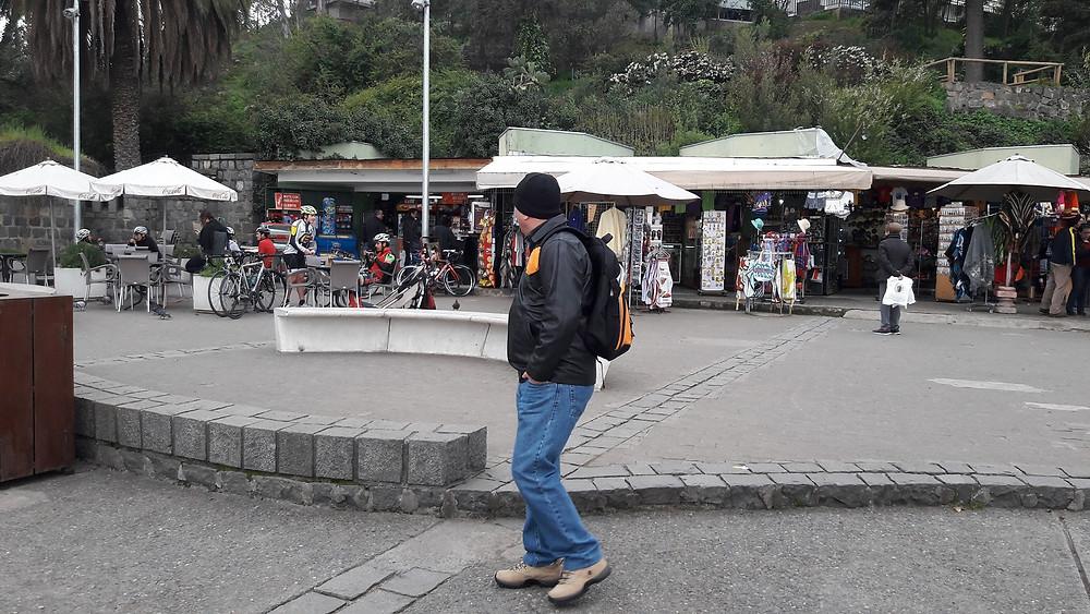 Feira e lanchonetes Cerro San Cristobal - Santiago - Chile