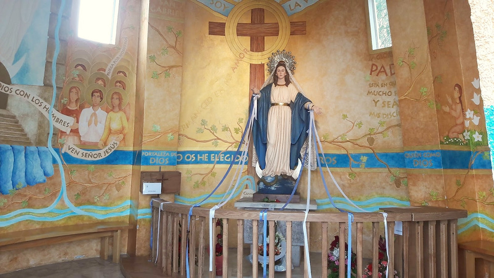 Interior Capela Imaculada Conceição - Cerro San Cristobal - Santiago - Chile