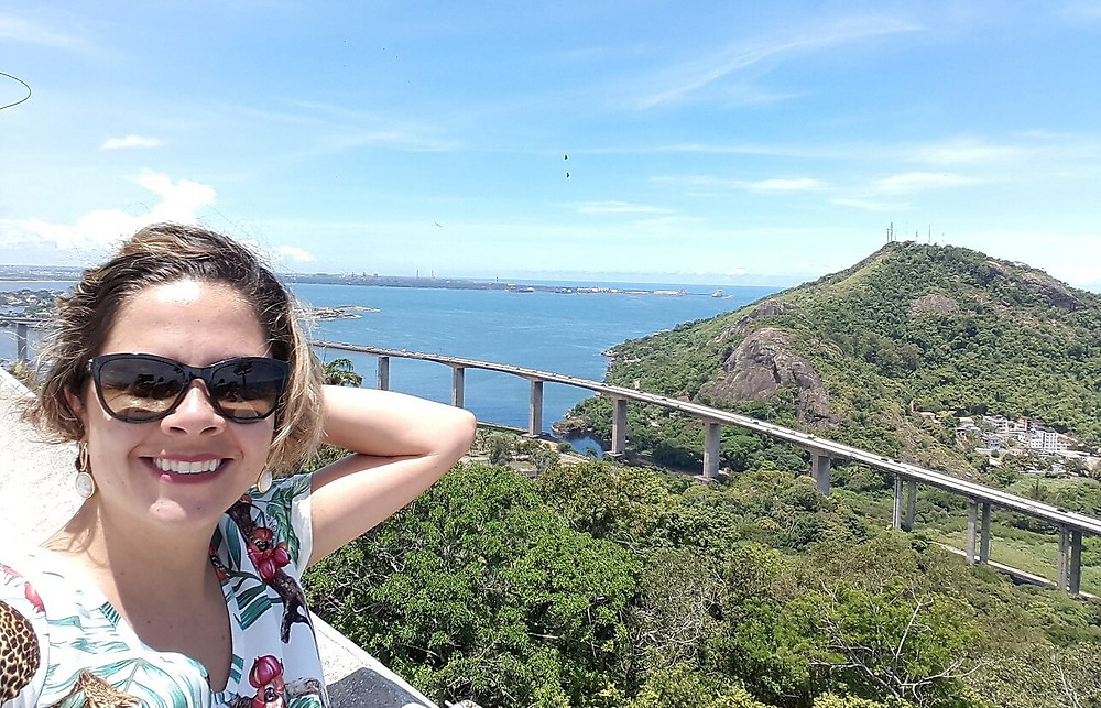 Vista para a terceira ponte no Santuário da Penha  Vilha Velha ES