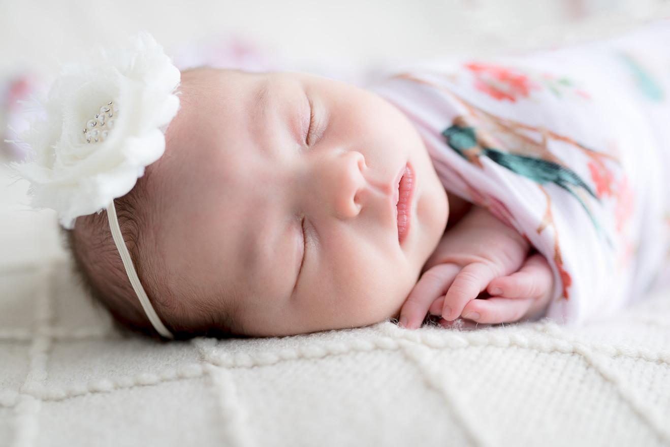 Newborn flower girl