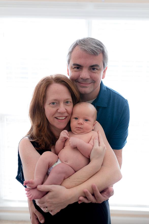 Mom, dad and newborn boy