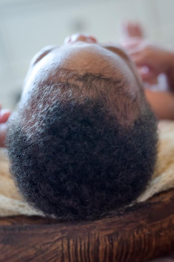 Newborn girl lots of hair