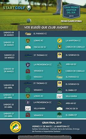Fixture GRAN PREMIO AMATEUR DEL SUR 2019