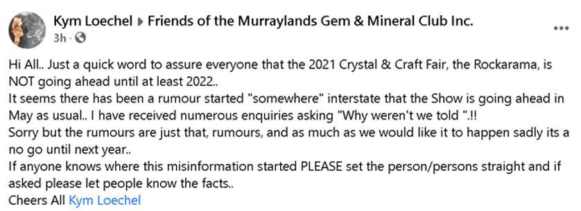 MGMC Notice RE - 2021 Rockarama NOT goin