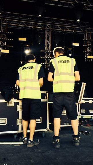 Our Lighting Crew, The Park Stage, Glastonbury Festival 2014
