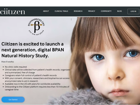 BPAN Warriors Partners with Ciitizen to launch a groundbreaking Natural History Study to accelerate