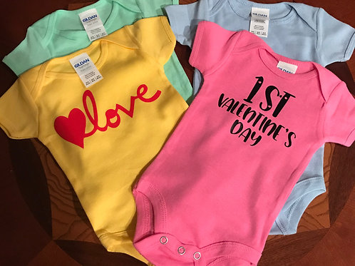 """Baby body suit """"YOUR CHOICE WHAT GOES ON IT"""""""