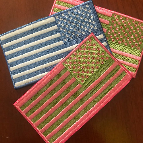 American Flag  Iron/sew on patch  3.5 in X2 in