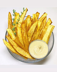 Plantain Fries - Healthy sliced plantain fries
