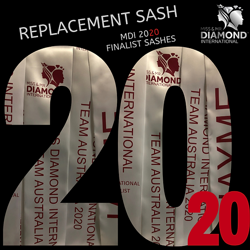 Replacement Finalist Sash