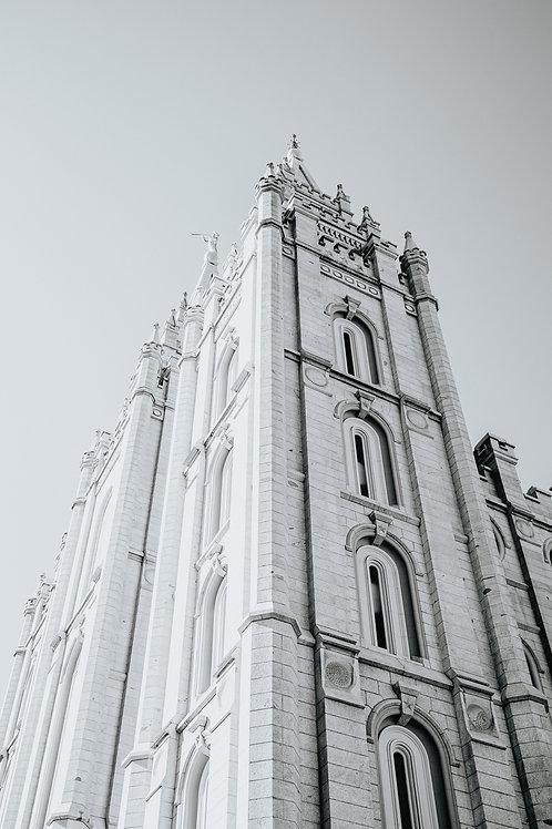 "11"" x 17"" Salt Lake City LDS Temple -BW"