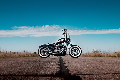 "11"" x 14"" Harley Davidson  Metallic Photo Print"