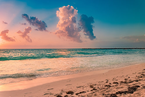 "11"" x 17"" Sunrise - Playa Del Carmen MX - 2020"