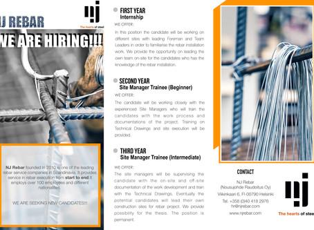 Etsimme työnjohtoharjoittelijoita - uusia kykyjä koulutusohjelmaamme