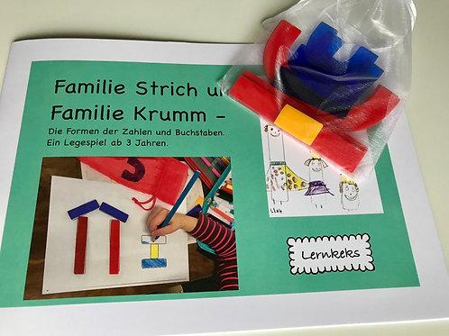 Familie Strich und Familie Krumm