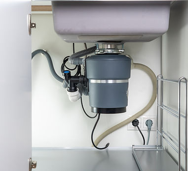 Garbage Disposal under the modern sink,