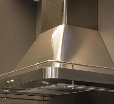 Elegant stainless steel kitchen cupboard