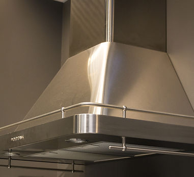 Elegant stainless steel kitchen cupboard