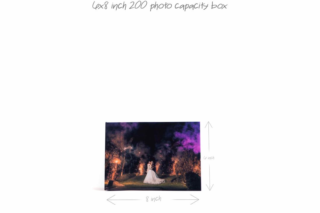 """6""""x8"""" 200 photos box"""
