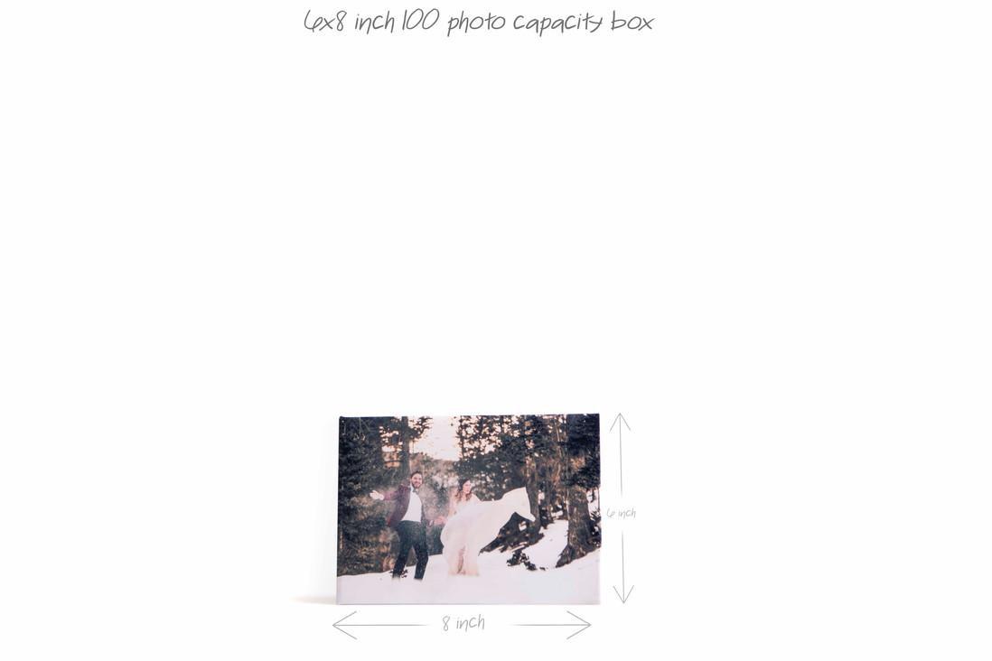 """6""""x8"""" 100 photos box"""