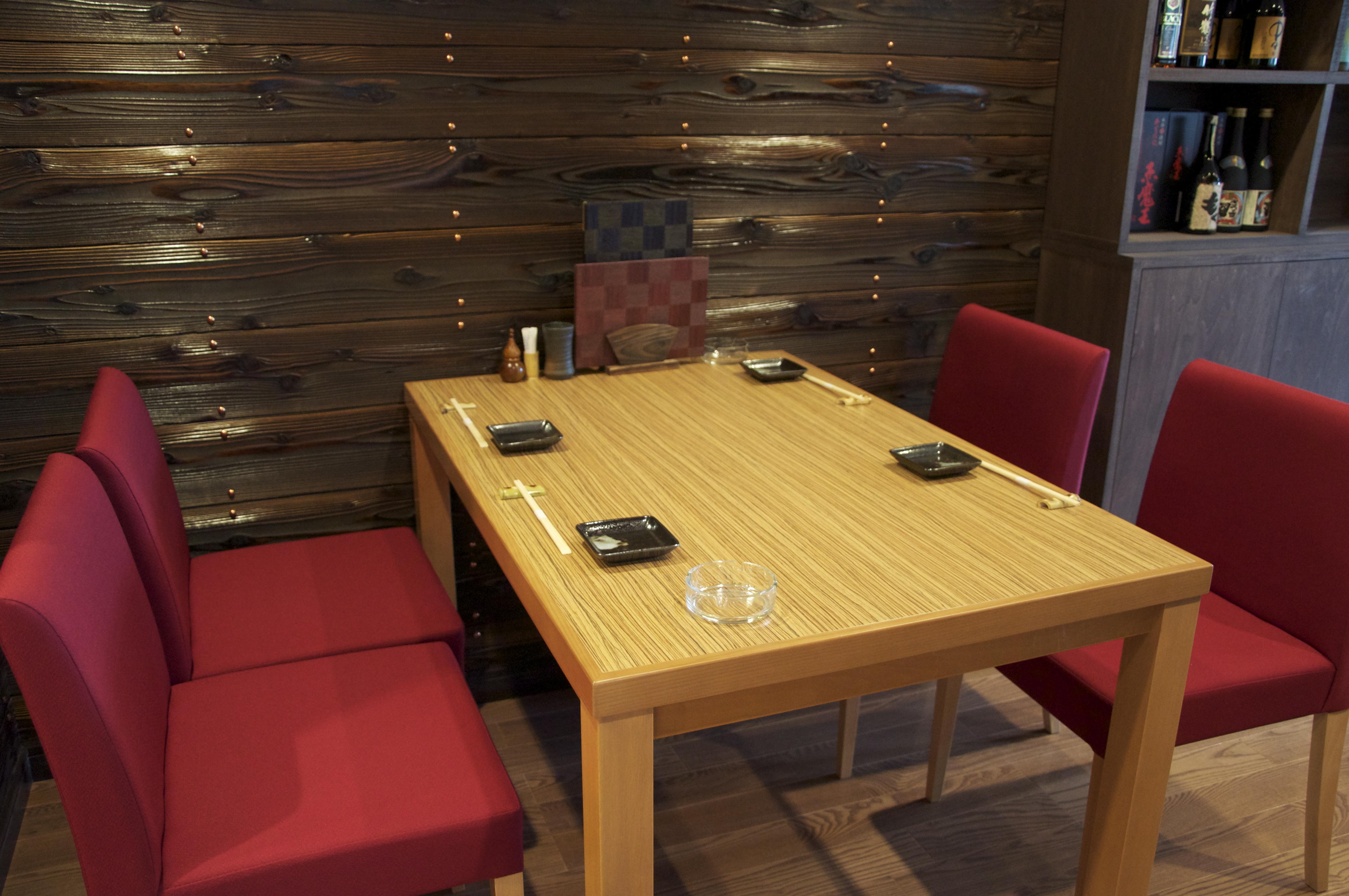 4人テーブル席