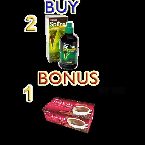 Buy 2 Splina, 1 Red Yeast free
