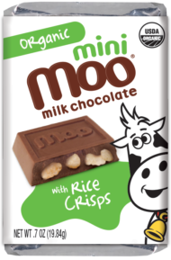 Organic Rice Crisps & Milk Chocolate Mini Bars, Box/14
