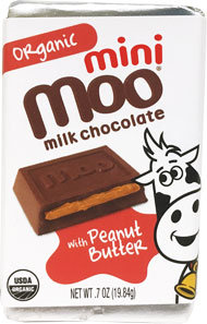 Organic Peanut Butter & Milk Chocolate Mini Bars, Box/14