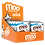Thumbnail: Organic Creamy Milk & Milk Chocolate Mini Bars, Box/14