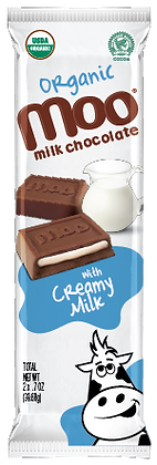 Organic Creamy Milk & Milk Chocolate Bars 2-Pack, Box/14