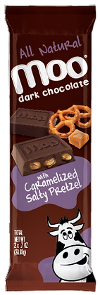 Natural Dark Chocolate Caramelized Salty Pretzel Bars 2-Pack, Box/14
