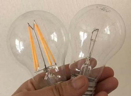あおあお(LEDと白熱電球の違い)