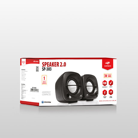 Caixa de Som C3 Tech SP303BK 3W USB Preta