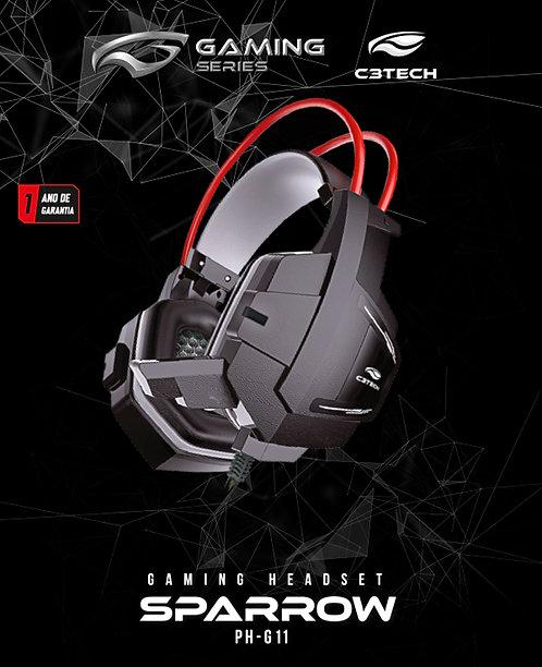 Headset Gaming Sparrow C3tech PH-G11BK