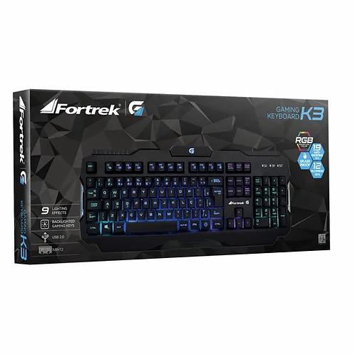 Teclado Gamer Keyboard K3 RGB Splash Proof