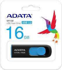 Pen Drive ADATA UV128 16GB Preto/Azul