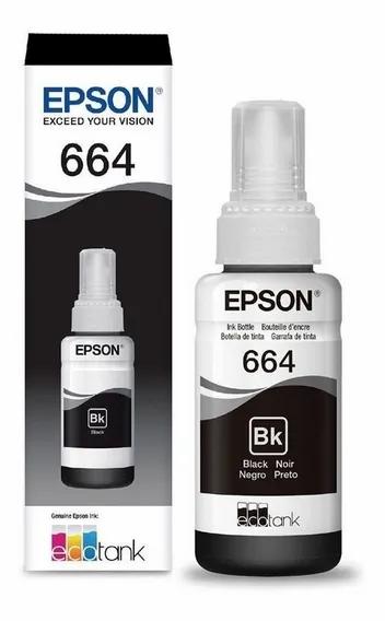 Garrafa De Tinta Epson Negro/Preto C13T66412A