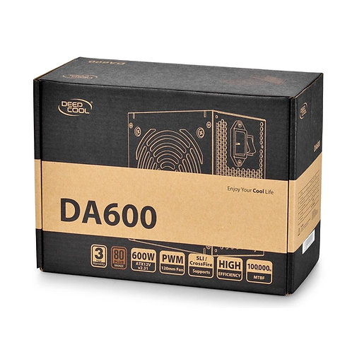 Fonte Deepcool Bivolts DA600 80 Plus Bronze