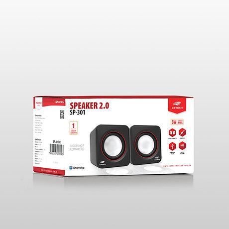 Caixa de Som C3 Tech SP301BK 3W USB Pto